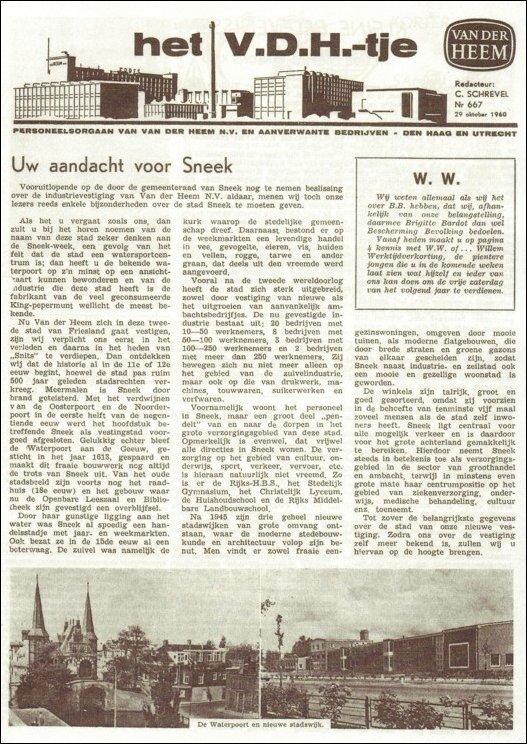 VDH-tje N°667-1 van 29 oktober 1960