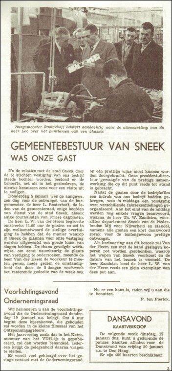 VDH-tje N°678-3 van 13 januari 1961