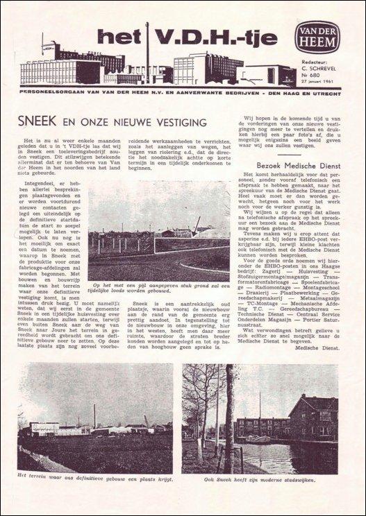 VDH-tje N°680 van 27 januari 1961