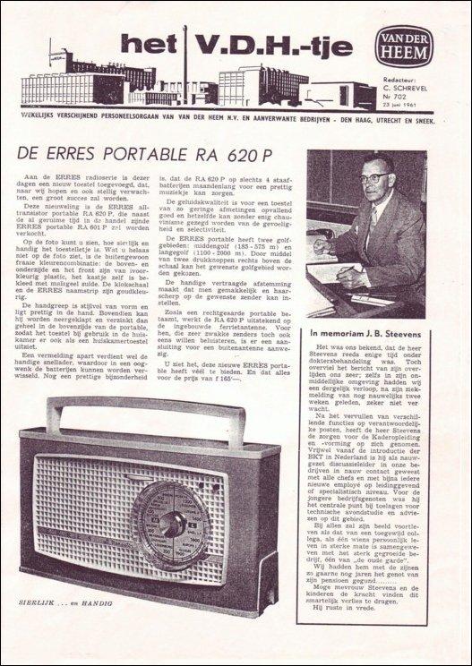 VDH-tje N°702 van 23 juni 1961