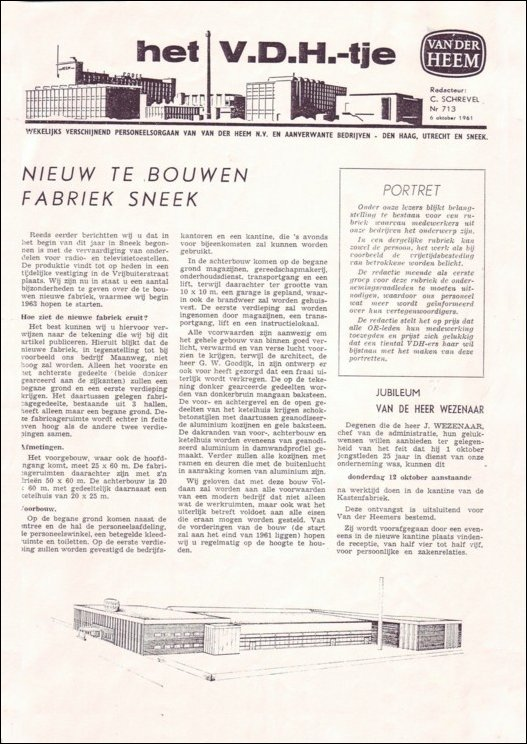 VDH-tje N°713 van 6 oktober 1961