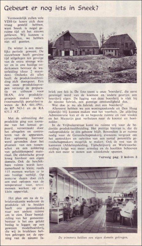 VDH-tje N°799-1 van 5 juli 1963