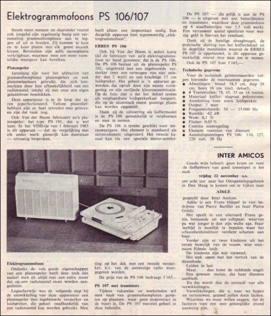 VDH-tje N°814-1 van 8 november 1963