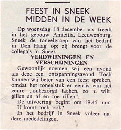 VDH-tje N°818-1 van 6 december 1963