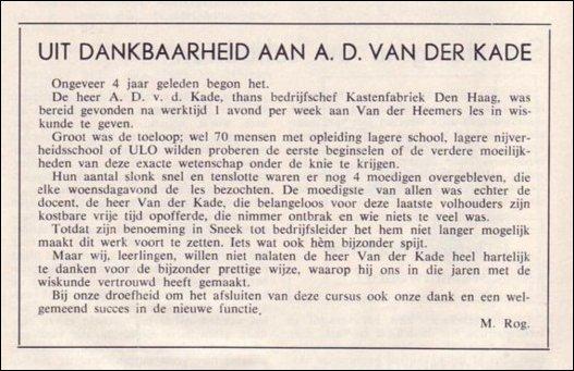 VDH-tje N°827-2 van 14 februari 1964