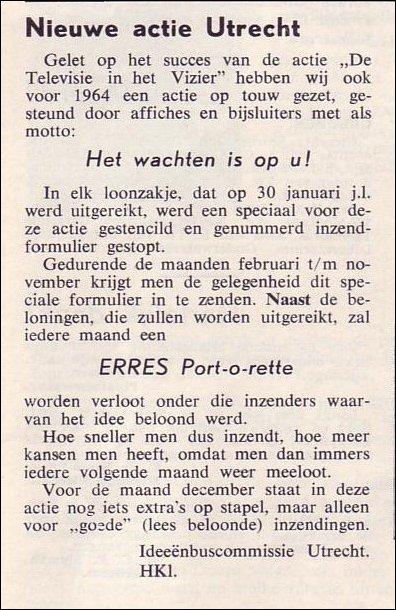 VDH-tje N°831-3b van 13 maart 1964