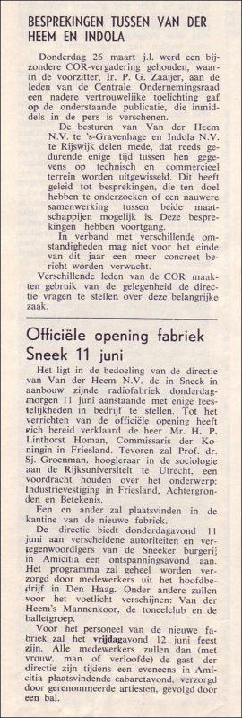 VDH-tje N°834-1 van 03-04-1964