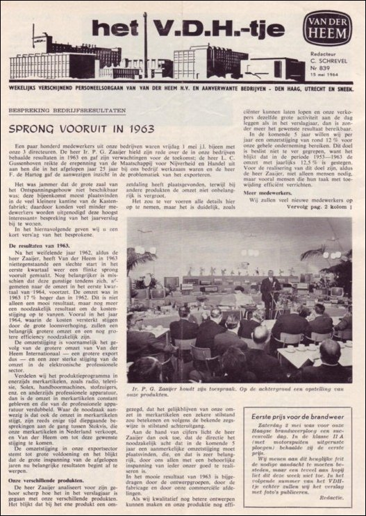 VDH-tje N°839-1 van 15mei 1964