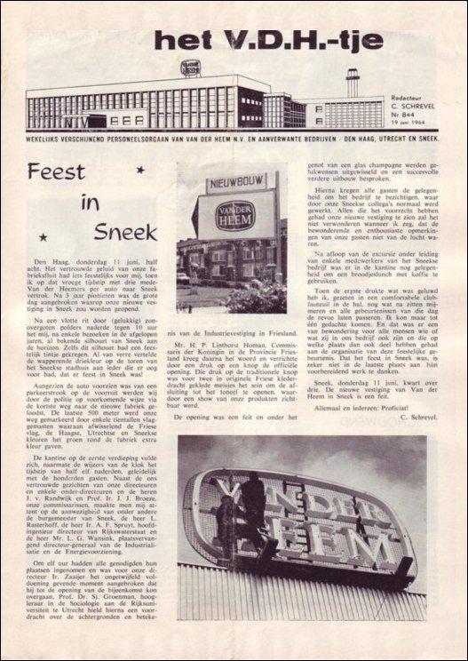VDH-tje N°844-1 van 11 juni 1964