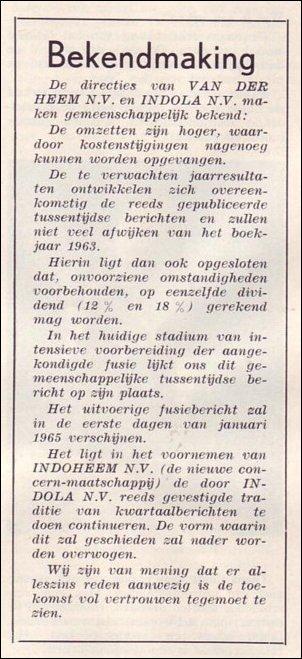 VDH-tje N°863-1 van 20 november 1964