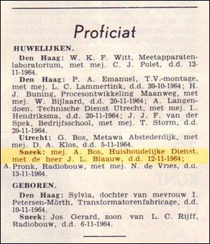 VDH-tje N°864-4 van 27 november 1964