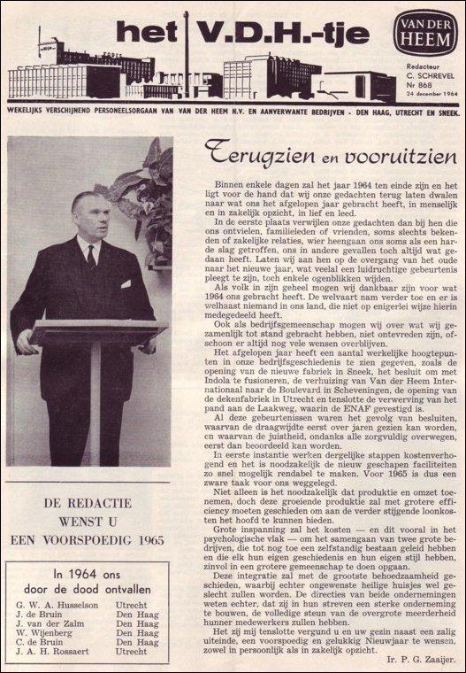 VDH-tje N°868-1 van 24 december 1964