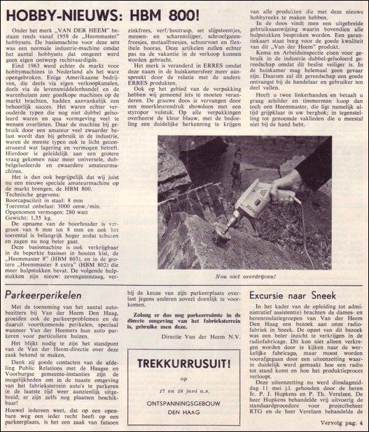 VDH-tje N°889-1 van 4 juni 1965