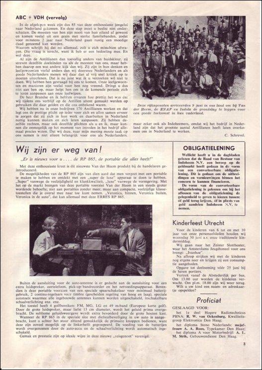 VDH-tje N°891-3 van 18 juni 1965