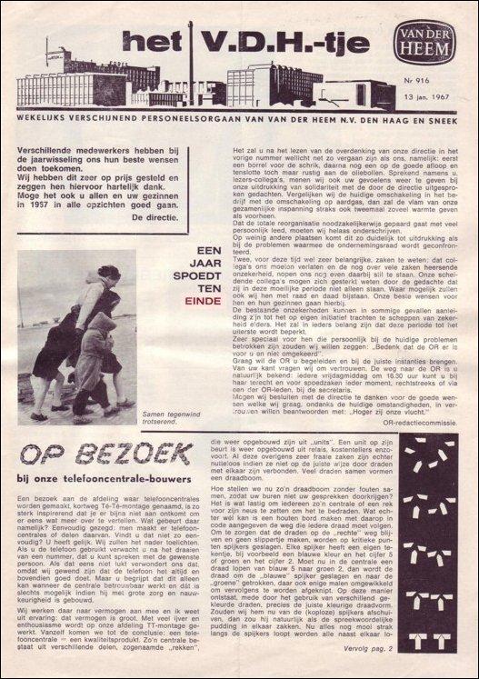 VDH-tje N°916-1 van 13 januari 1967