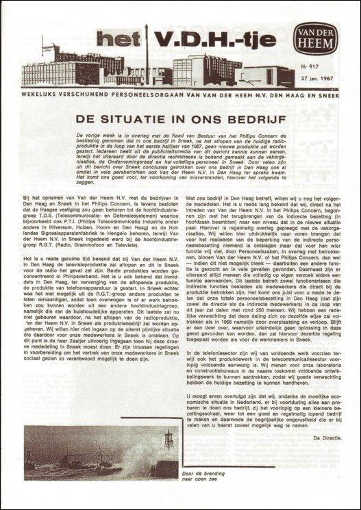 VDH-tje N°917-1 van 27 januari 1967